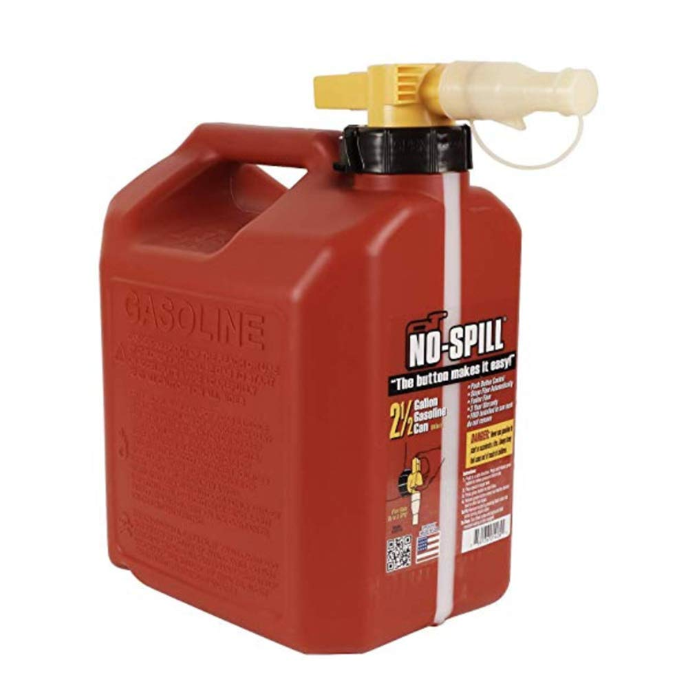 No-Spill 1405 2-1/2-Gallon Poly Gas Can (2 Pack)