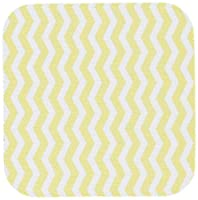 3dRose cst_56648_2 Golden Yolk Yellow and White Chevron Zig Zag Stripy Pattern Cute Classic-Soft Coasters, Set of 8