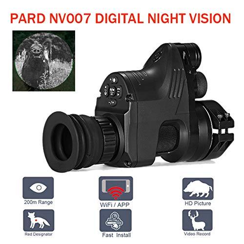 Pard NV007 Red Dot Sights Digital Hunting Night Vision Scope WiFi APP Optics Telescopes 5W IR Infrared Night Vision Riflescope (Best Red Dot For Night Vision)