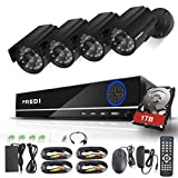 FREDI 8CH Security Camera System Full 960H DVR with 4x 800TVL Superior Night Vision IR Cut Leds indoor/outdoor CCTV Camera(With 1TB Hard Drive) Review