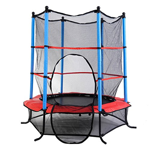 "Youth Jumping Round Trampoline 55"" Exercise W/ Safety Pad Enclosure Combo Kids by Supershop®"