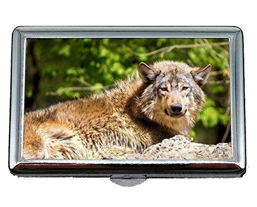 Vintage Purses Ebay - Cigarette Case Box,Stare Wildlife Predator Wolf Business Card Holder Wallet Credit Card ID Case