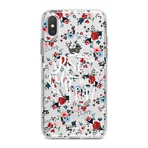Lex Altern TPU Case for iPhone Apple Xs Max Xr 10 X 8+ 7 6s 6 SE 5s 5 Smooth Christian Bible Quote Slim fit Wildflowers Soft Lightweight Cover Psalm Print Floral Design Clear Gift Flexible Religious ()