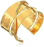 """Devon Leigh """"Bold Gold"""" 18k Gold-Plated Hammered Cuff Bracelet, 7"""""""