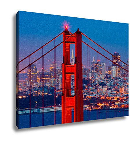 Ashley Canvas, Golden Gate Bridge And Downtown San Franci...