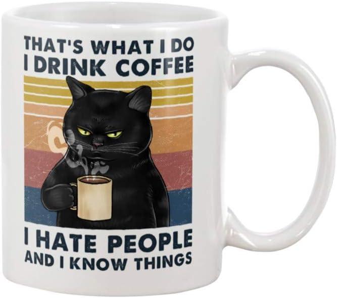 Printed Mug I Hate Cats Mug