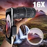 16X52 Zoom Hiking Smartphone Monocular Telescope Lens Camera HD Scope Hunting Phone Holder iPhone 6 7 8 Plus X Xiaomi