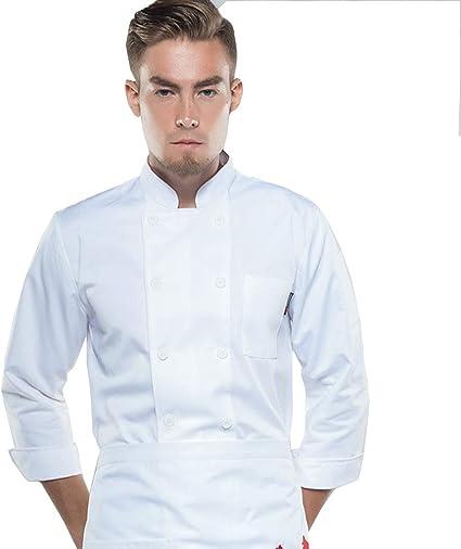 Wyysynxb Vestiti Da Chef Manica Lunga Hotel Capocuoco Abiti Da Lavoro Unisex Abiti Autunnali E Invernali Abbigliamento Da Cucina Bianca M Amazon It Casa E Cucina