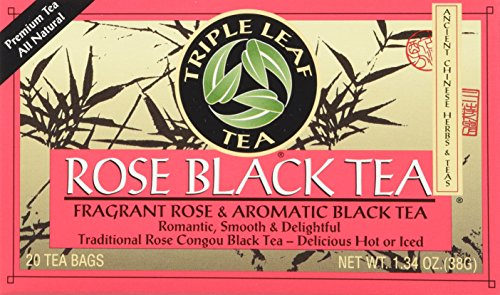(Triple Leaf Tea Black Tea Bags, Rose, 20 Count)