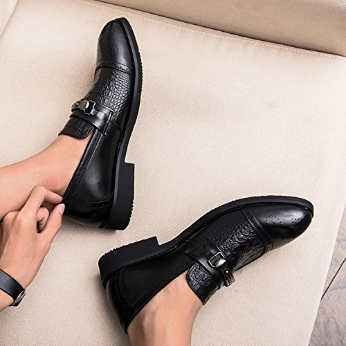 Homme Chaussures en Cuir Chaussures de Ville à Lacets Chaussures D'affaires Habillées Oxford Mariage Costume Chaussures Noir ZgK4B