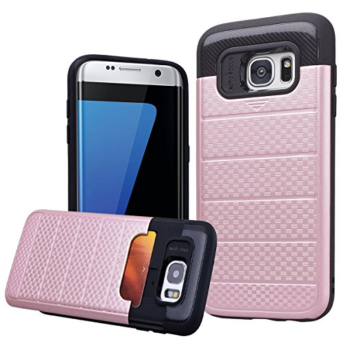 Shockproof Hard TPU Case for Samsung Galaxy S7 Edge (Hot Pink/Blue) - 9
