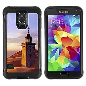 Suave TPU Caso Carcasa de Caucho Funda para Samsung Galaxy S5 SM-G900 / Nature Lighthouse Beach / STRONG