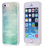 Hungo Iphone 5S Case Life Motivational Quotes, Apple Iphone 5 5S SE Cover Blue Life Isn't About Waiting For The Storm To Pass It Is About Learning To Dance In The Rain