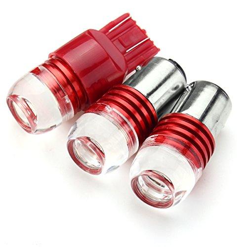 Fincos 1156 1157 7443 3LED Car Red Turn Lights Bulb Tail Brake Strobe Lamp Bulb - (Type: 7443)