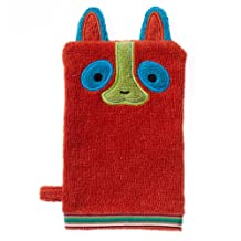 Breganwood Organics Kids' Bath Mitt, Happy Lemur Rainforest Collection