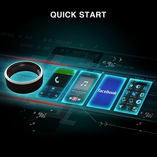 VapeOnly R3 NFC Magic Smart Ring Waterproof Electronics Mobile Phone Accessories Universal Compatible with Android iOS SmartRing Smart Watch (9#) by VapeOnly (Image #2)