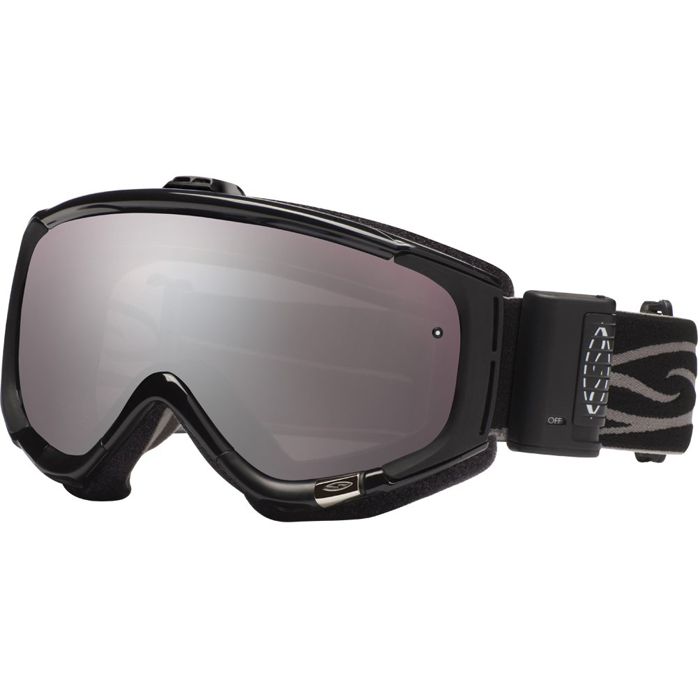 Smith Optics Phenom Turbo Fan Series Winter Sport Snowmobile Goggles Eyewear - Black/Ignitor Mirror / Medium