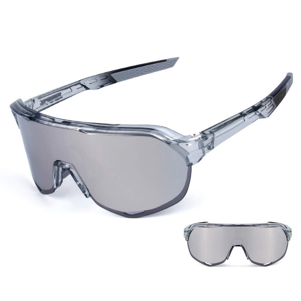 偏光ライディンググラス 大きなミラー風とUV保護 交換可能なレンズ 近視用メガネ マルチカラー 大人用  E B07M8RD4GJ