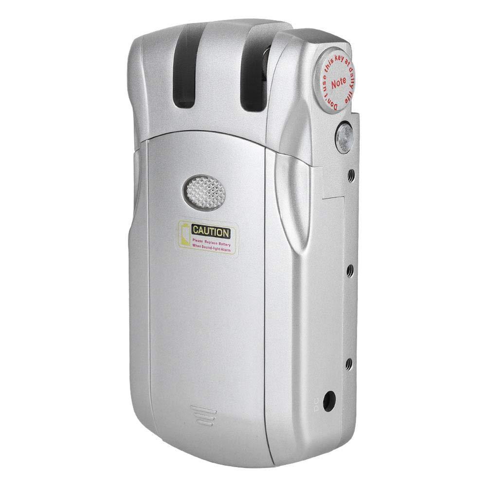 Wireless electronic lock - WAFU Invisible Keyless Wireless Remote Control Electronic Lock with 4 Silver Remote Controllers