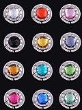 Science Purchase 78HHH12PK 12 Piece Colorful Diamond Folding Section Handbag Hook