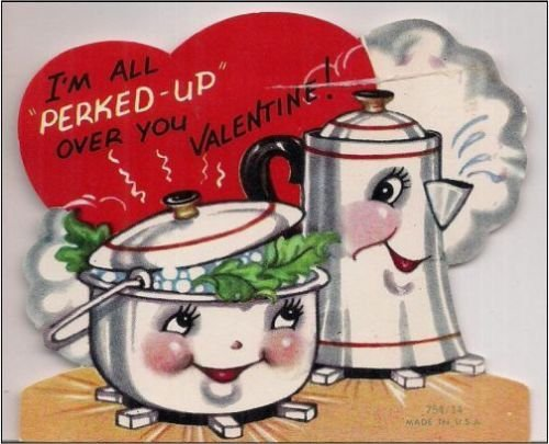 2 x 3 magnet coffeepot vintage valentine decoration locker magnet - Vintage Valentine Decorations
