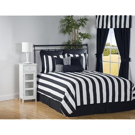 Victor Mill City Stripe Queen Comforter Set