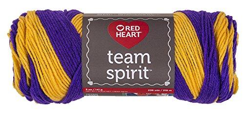 - Red Heart  Team Spirit Yarn, Purple/Gold