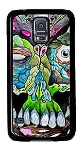 Diy Fashion Case for Samsung Galaxy S5,Black Plastic Case Shell for Samsung Galaxy S5 i9600 with It Spreads