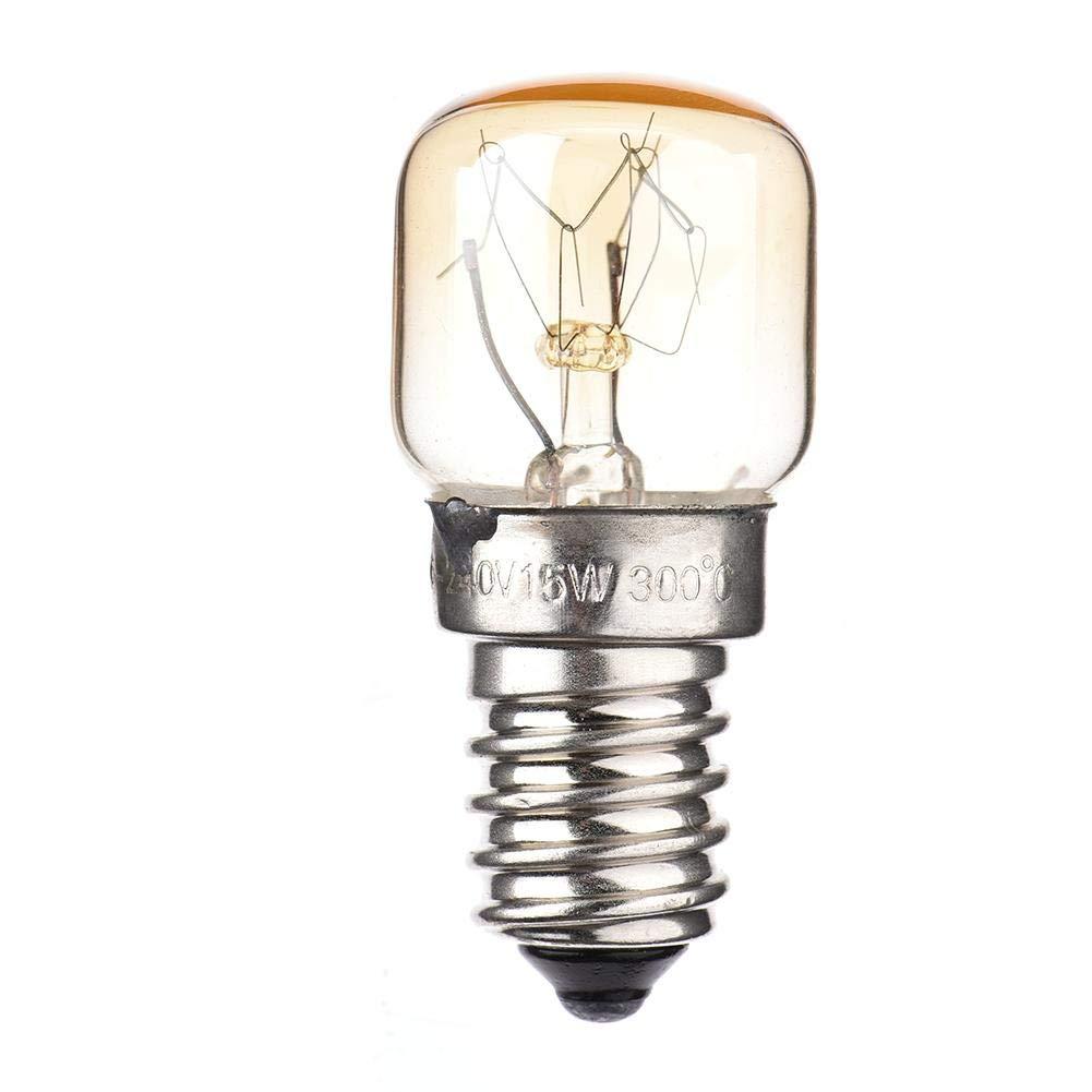 cherrysong 15W/25W Salt Lamp Bulbs, E14 Base Oven Light Bulbs, Oven Light E14 Small Screw Cap Pygmy Lamps,Spare Bulbs Salt Lamps, up to 300 Degrees, 2650k, Warm White