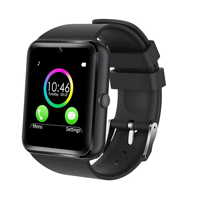 YAMAY® Smart Watch Reloj Inteligente Deportes reloj teléfono con SIM tarjeta/TF Función /Cámara/TEXT/WhatsApp/Contador de pasos/Monitor de ...