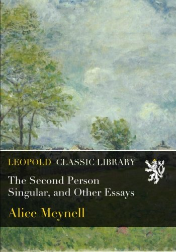 The Second Person Singular, and Other Essays pdf epub