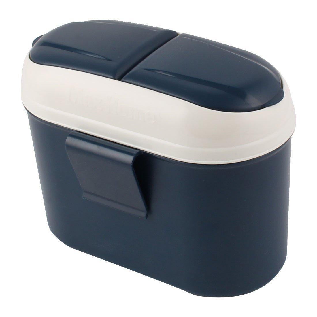 eDealMax veicolo Auto Spazzatura Cestino Supporto bidone Della pattumiera dei rifiuti Container Yale Blu
