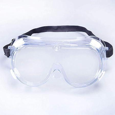 Xiaolizi Gafas Protectoras Transparentes de Seguridad, Gafas Anti-Virus Resistentes al Viento a Prueba de Salpicaduras, Apto para Interiores y Exteriores.: Amazon.es: Hogar