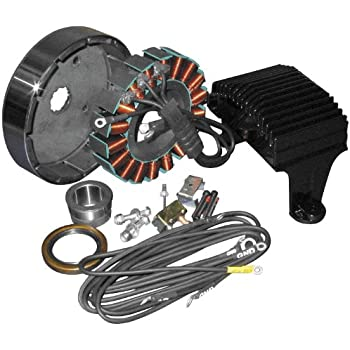 new 12 volt 38 amp stator fits harley davidson. Black Bedroom Furniture Sets. Home Design Ideas