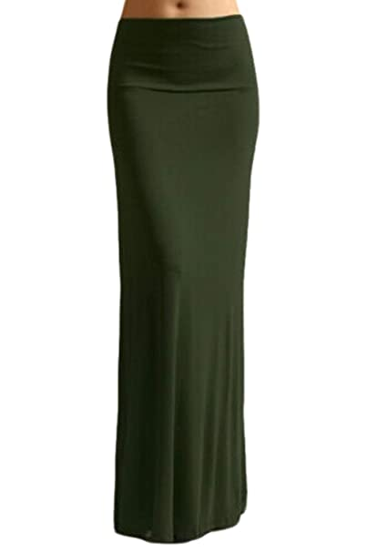 7980317f3 Zamtapary Faldas Largas De Cintura Alta Lisas Informales Maxi Ceñidas para  Mujer  Amazon.es  Ropa y accesorios