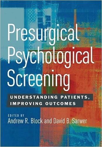 Descargas gratuitas de computadoras y librosPresurgical Psychological Screening: Understanding Patients, Improving Outcomes (Spanish Edition) PDF B00B26Z6K0