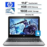 """2018 HP Flagship High Performance 11.6"""" Touch Chromebook (1366 x 768), Intel Celeron N3060 (Up to 2.48 GHz, 2 MB Cache, 2 Cores), 4GB Memory, 16GB eMMC Storage,Intel HD Graphics 400,Chrome OS"""