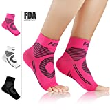 Featol Plantar Fasciitis Socks with Arch Support Ankle Support for Men and Women,Ankle Compression Socks Foot Sleeve to Increase Blood Circulation,Relieve Arch Pain,Better than Night Splint(1 Pair)