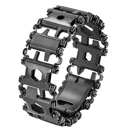 Outdoor Multi-Tool Bracelet,29-in-1 Outdoor Detachable Steel Tread Chains, Screwdriver Wrench Can Bottle Opener, for Hiking Camping Travel
