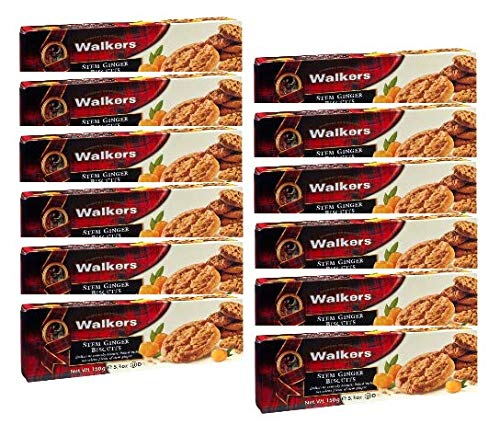 Walkers Shortbread Stem Ginger Cookies, 5.3 Ounce - 12 per case.