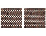 Set Of 2 Slatted Wooden Placemats By Creative Tops, 29 x 29cm (11½'' x 11½'')