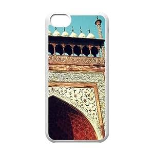 Iphone 5C Case, taj mahal entry gate Case for Iphone 5C White