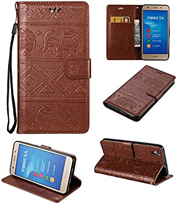 Guran® Funda de Cuero PU para Huawei Y6 II / Honor 5A Smartphone ...