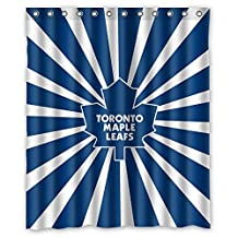 Custom NHL Toronto Maple Leafs Stripes Waterproof Polyester Shower Curtain 60x72