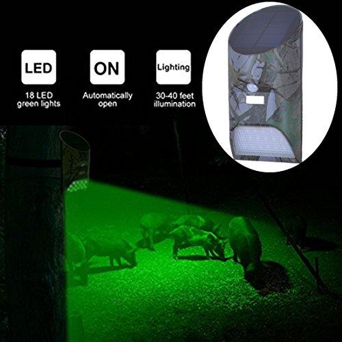 Lilbees Hog Feeder Light Motion Activated Green Light for Predator Coyote Pig Varmint Deer Hog Night Hunting(FL-3)