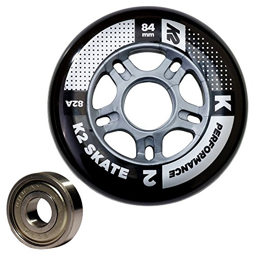 K2 Performance 84mm Inline Skate Wheel & Bearing 8-Pack Kit – DiZiSports Store