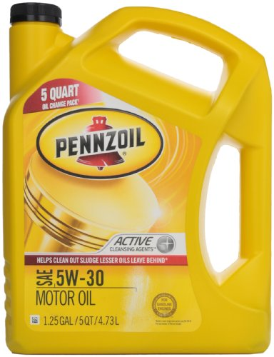 Pennzoil 550038350 sae 5w 30 motor oil api gf 5 5 quart for 5 30 motor oil
