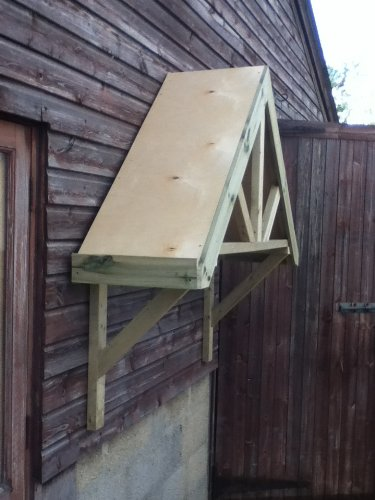 Smileswoodcraft Timber Front Or Back Door Canopy Porch (160cm (L) x 80cm  (H) x 44cm (W))