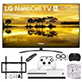 """LG 75SM9070PUA 75"""" 4K HDR Smart LED Nanocell TV w/AI ThinQ (2019) Bundle with Microsoft Xbox One S 1TB + Deco Mount Flat Wall Mount Kit + Deco Hear Wireless Keyboard+ Surgepro 6-Outlet Surge Adapter"""