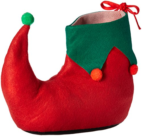 [Rubie's Adult Elf Shoes, Green/Red, One Size] (Green And Red Elf Costumes)